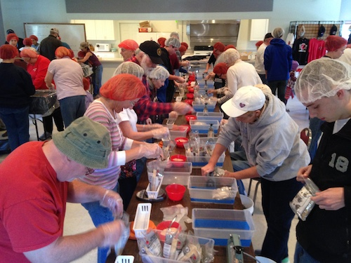 Stop Hunger Now meal packaging - 11.21.15