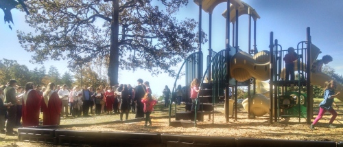 Blessing the new playground in worship - 10.11.15